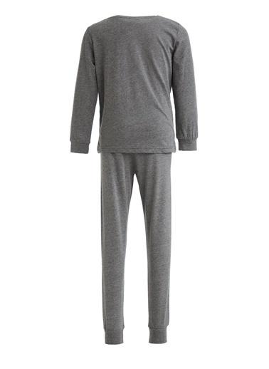 DeFacto Erkek Çocuk Kaplan Baskılı Pijama Takımı Antrasit